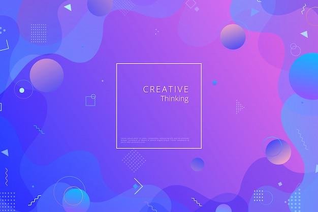 Kleurrijke geometrische achtergrond. samenstelling van vloeibare vormen Premium Vector