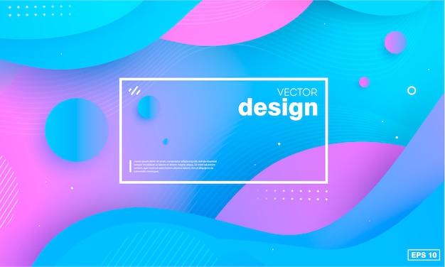 Kleurrijke geometrische achtergrond Premium Vector