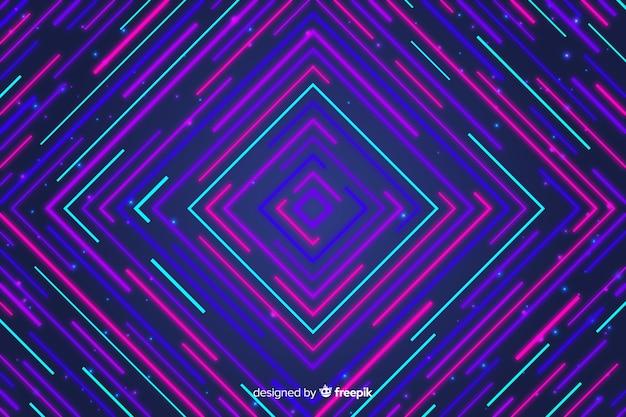 Kleurrijke geometrische lijnen abstracte achtergrond Gratis Vector