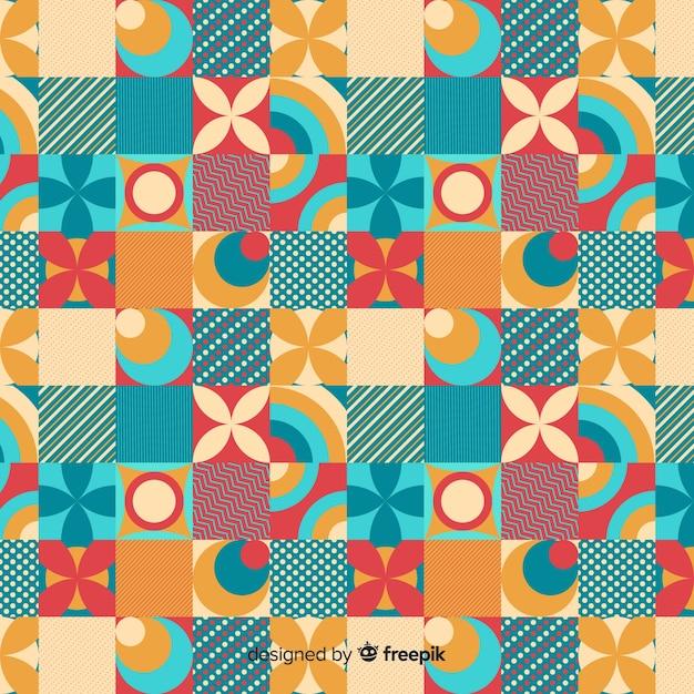 Kleurrijke geometrische mozaïekachtergrond Gratis Vector
