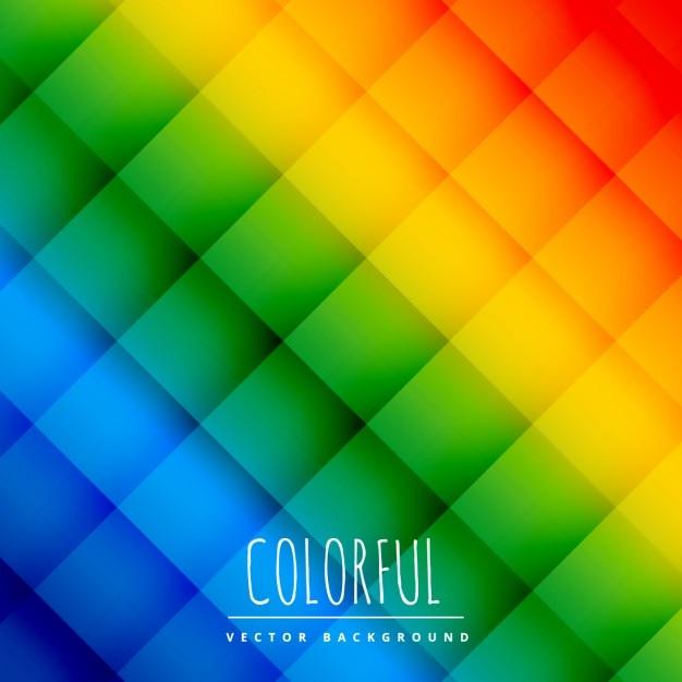 Kleurrijke geruite achtergrond Gratis Vector