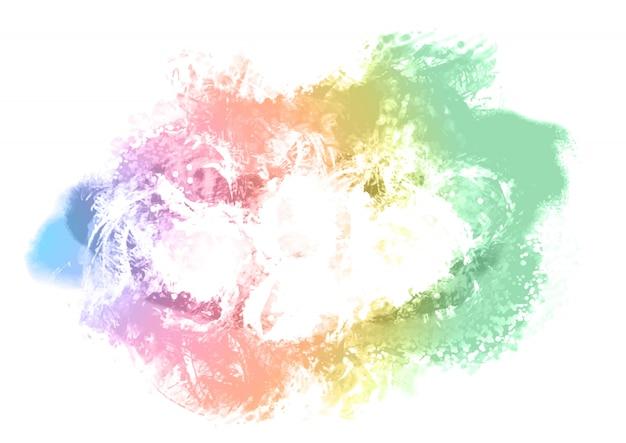 Kleurrijke geschilderde achtergrond Gratis Vector