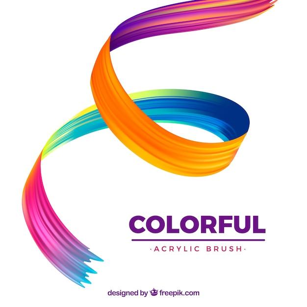 Kleurrijke golvende acrylachtergrond Gratis Vector