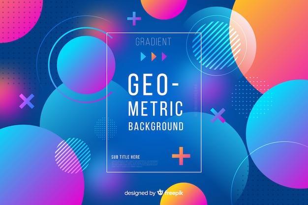 Kleurrijke gradiënt geometrische vormen achtergrond Gratis Vector