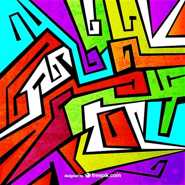 Kleurrijke graffiti vector Gratis Vector