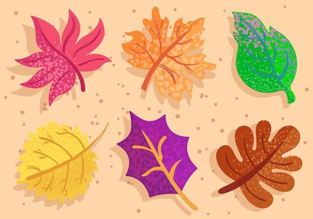 Kleurrijke herfstbladeren Premium Vector