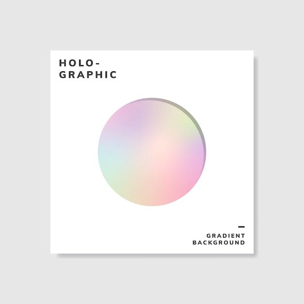 Kleurrijke holografische gradiënt achtergrondontwerpsteekproef Gratis Vector