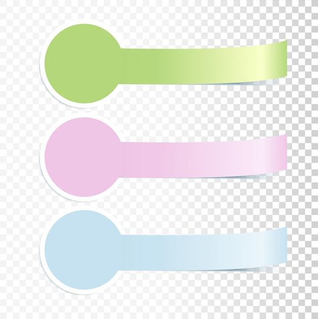Kleurrijke incurved banners Premium Vector