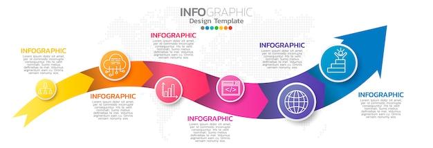 Kleurrijke infographic element sjabloon Premium Vector