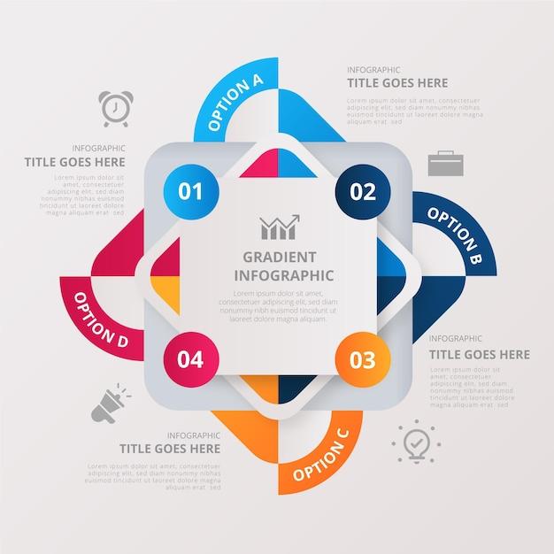 Kleurrijke infographic met details Gratis Vector