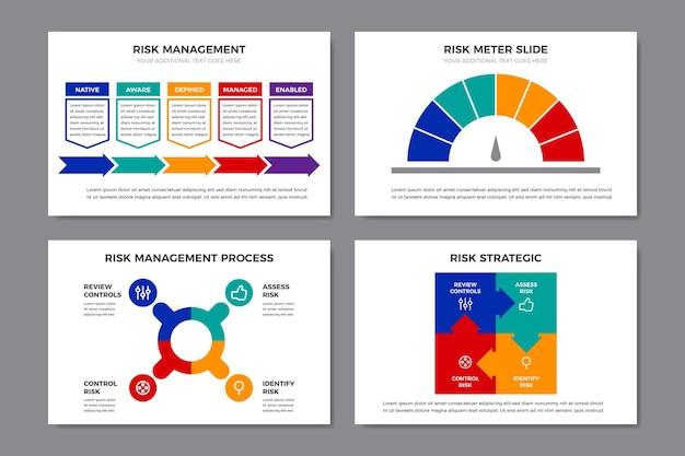 Kleurrijke infographic risicobeheer Gratis Vector