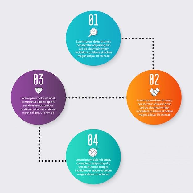 Kleurrijke informatiegrafiek voor uw bedrijfspresentaties. Premium Vector