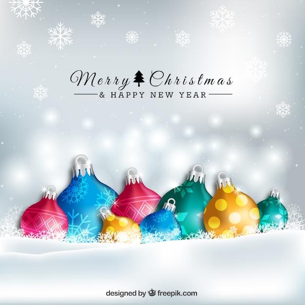 Kleurrijke kerstballen achtergrond Vector | Gratis Download