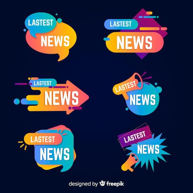Kleurrijke laatste nieuwsbanners Gratis Vector