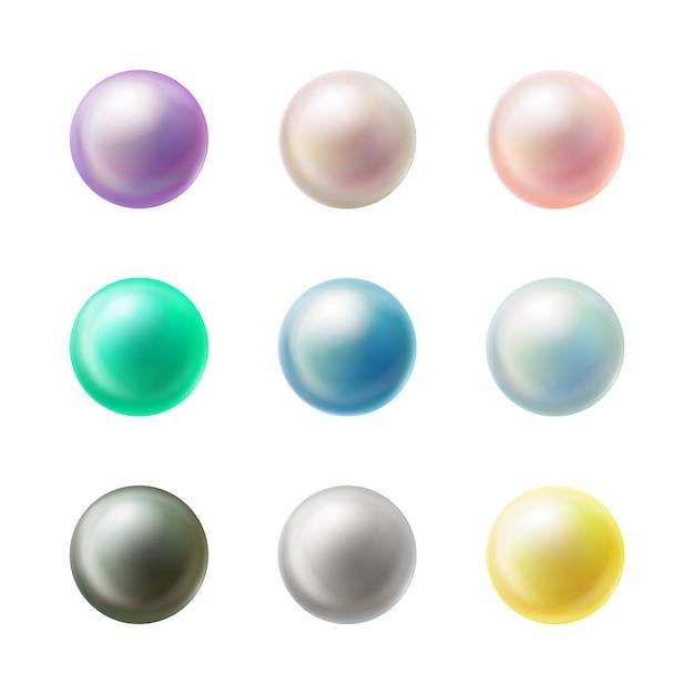 Kleurrijke lege ronde realistische knopen Gratis Vector
