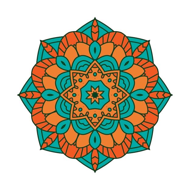 Kleurrijke mandala achtergrond Premium Vector
