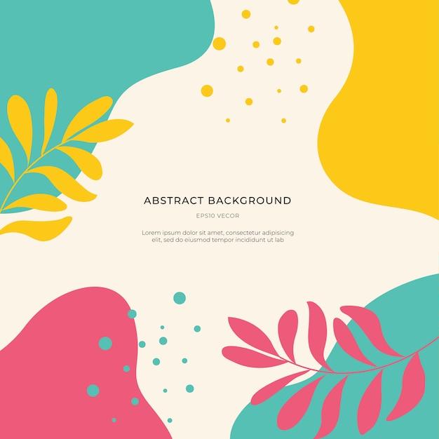 Kleurrijke memphis abstracte achtergrond Premium Vector