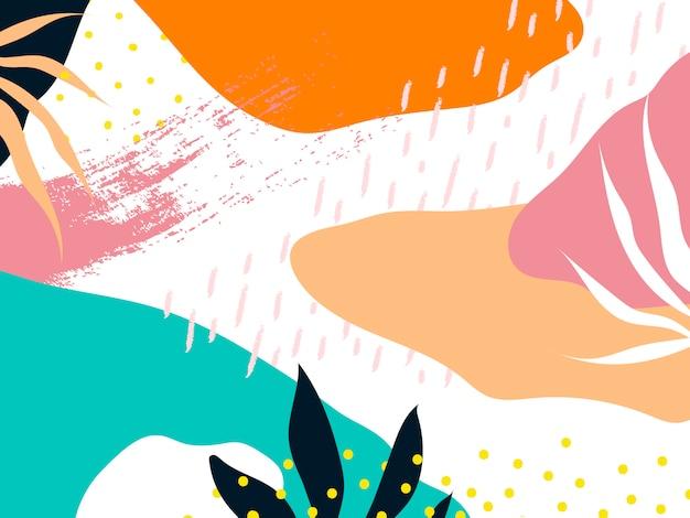 Kleurrijke memphis-ontwerp achtergrondvector Gratis Vector