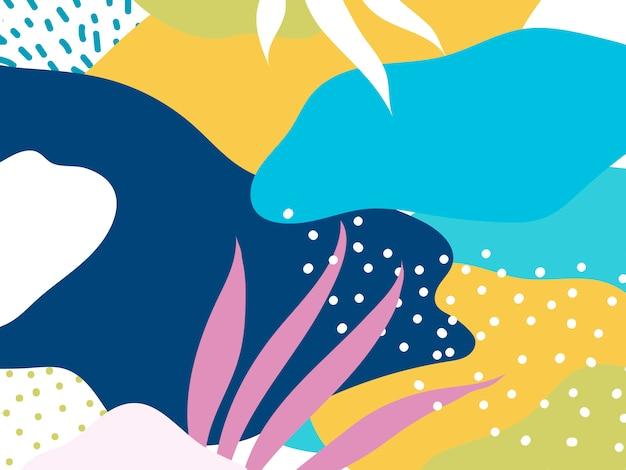Kleurrijke memphis-ontwerpachtergrond Gratis Vector