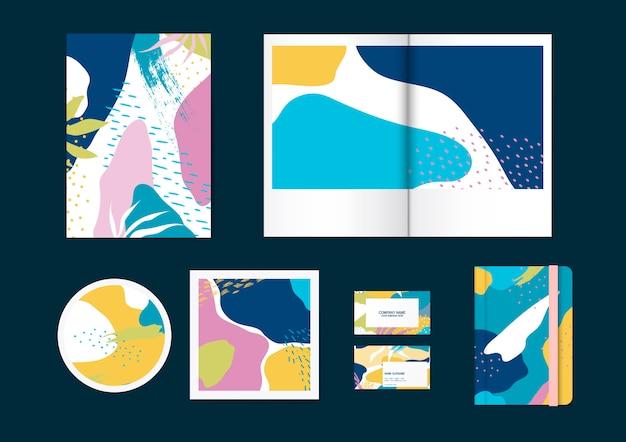 Kleurrijke memphis patroon vector set Gratis Vector