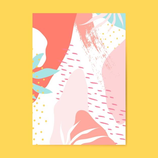 Kleurrijke memphis stijl poster vector Gratis Vector