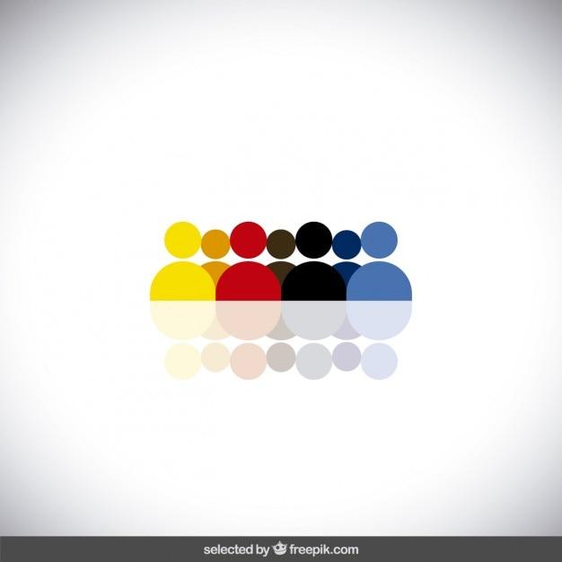Kleurrijke menselijke avatars Gratis Vector