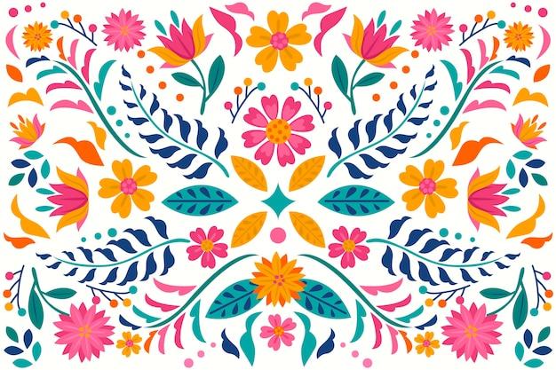 Kleurrijke mexicaanse achtergrond Gratis Vector
