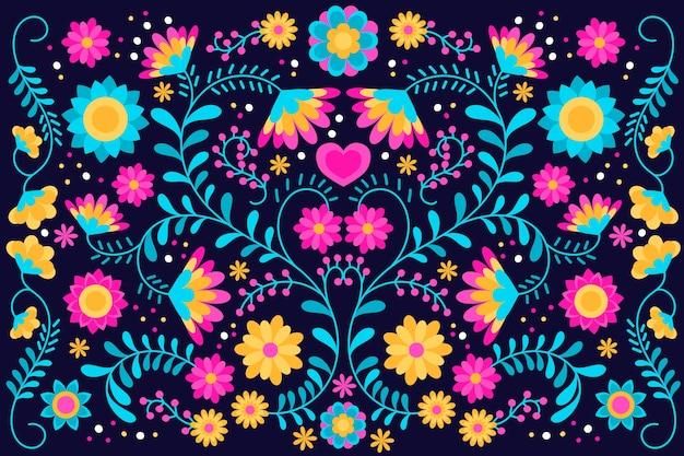 Kleurrijke mexicaanse screensaver Gratis Vector