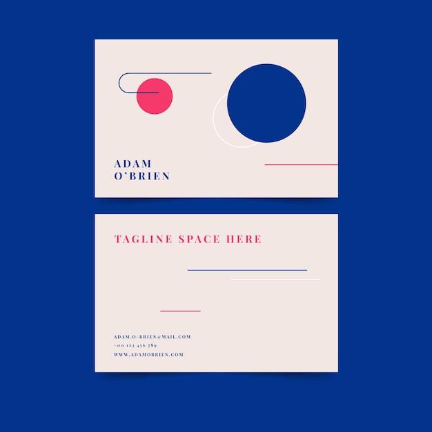 Kleurrijke minimalistische visitekaartjesjabloon Gratis Vector