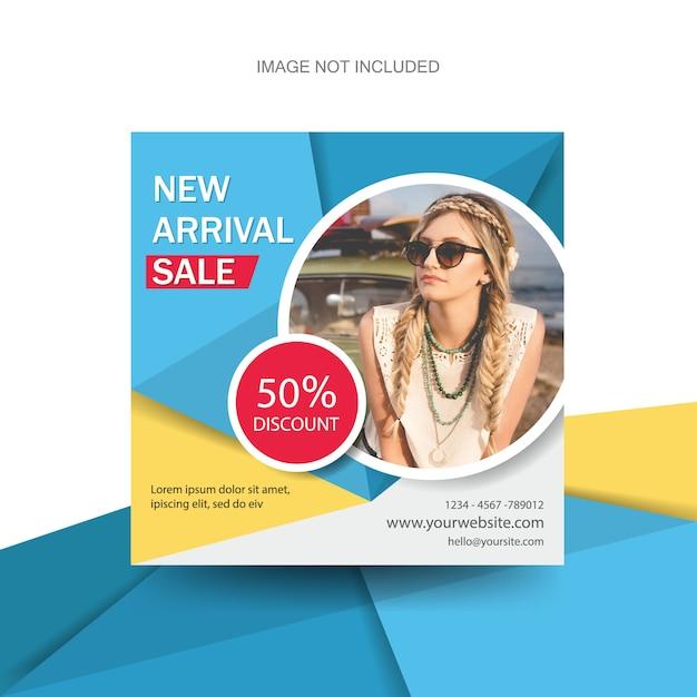 Kleurrijke mode banners folder folder brochure sjabloon Premium Vector