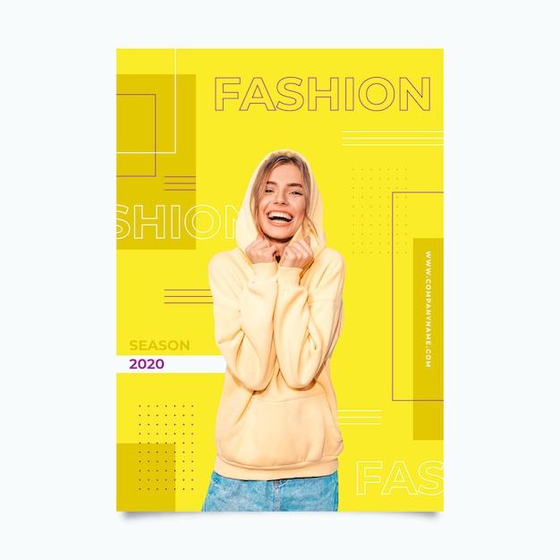 Kleurrijke mode poster sjabloon Gratis Vector