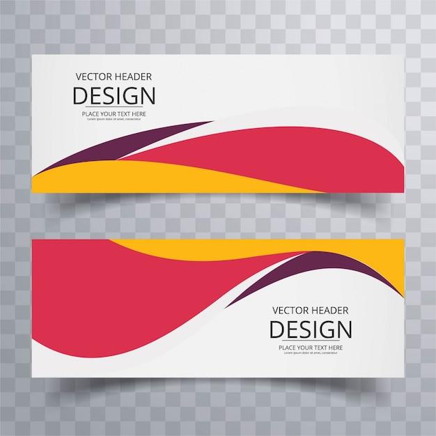 Kleurrijke moderne banners Gratis Vector