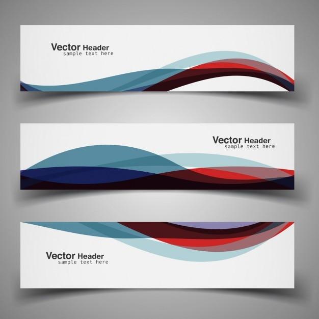 Kleurrijke moderne golvende header Gratis Vector
