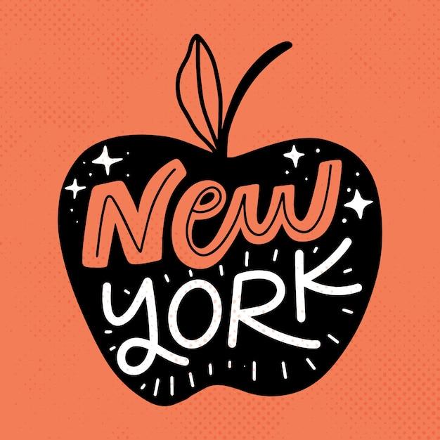 Kleurrijke new york city belettering Gratis Vector