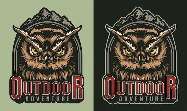 Kleurrijke outdoor avontuur vintage print Gratis Vector