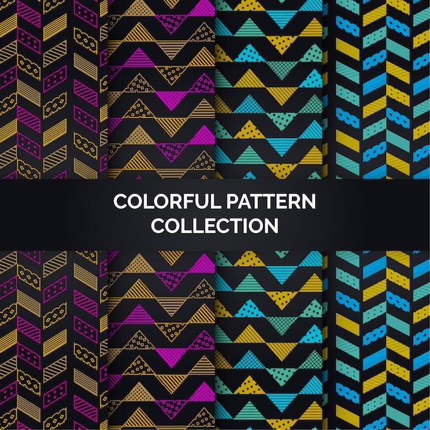 Kleurrijke patrooninzameling Premium Vector