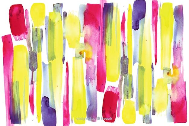 Kleurrijke penseelstreken achtergrond Gratis Vector