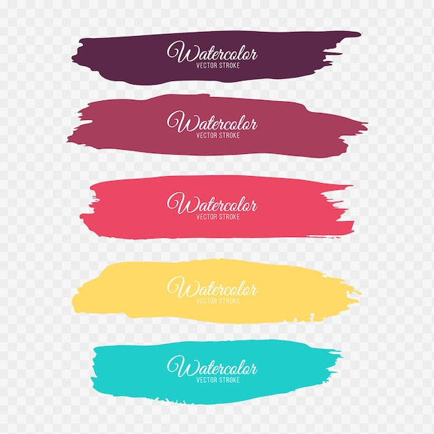 Kleurrijke penseelstreken Gratis Vector