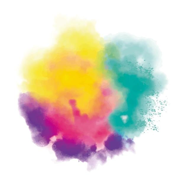 Kleurrijke realistische stofwolk Gratis Vector