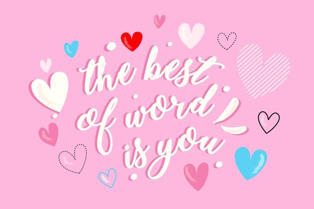 Kleurrijke romantische letters voor valentijnsdag Gratis Vector