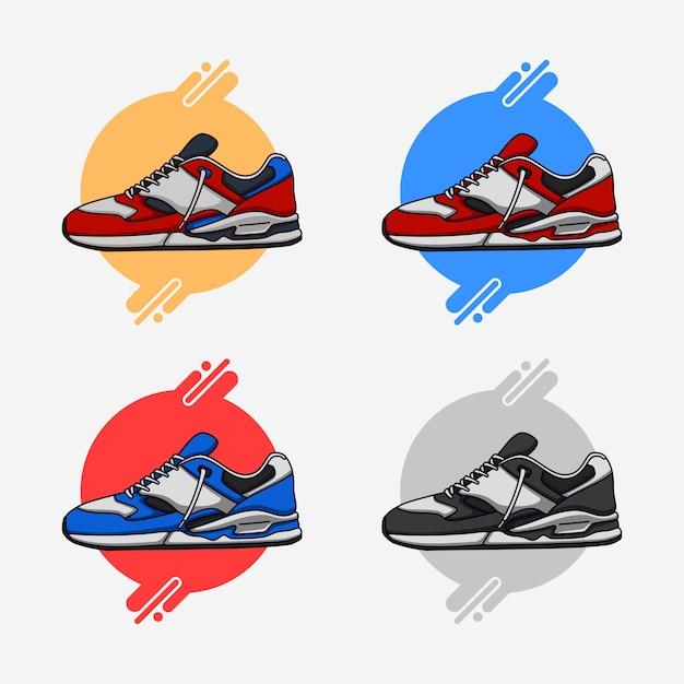 Kleurrijke sneakers Premium Vector