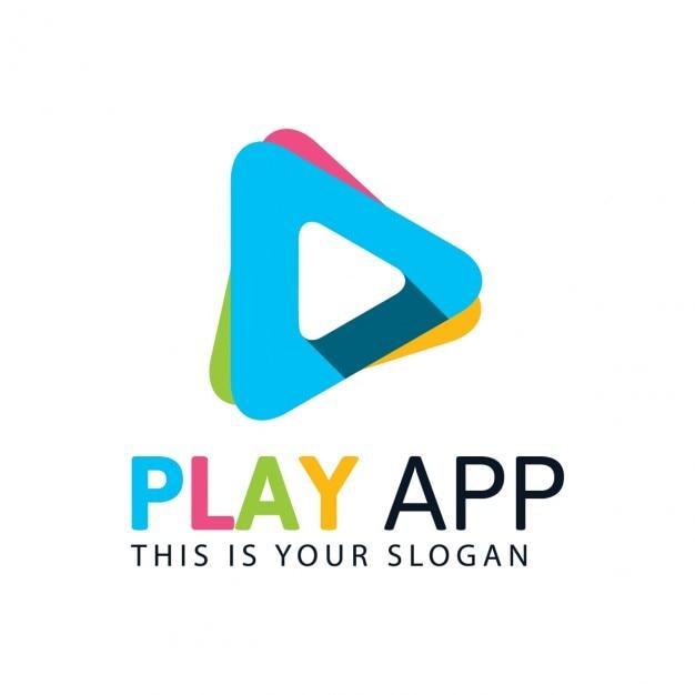 Kleurrijke spelen logo Gratis Vector