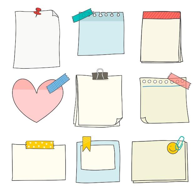 Kleurrijke stationery supplies-collectie Gratis Vector