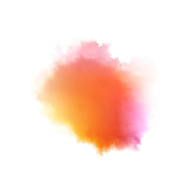 Kleurrijke stijlvolle aquarel splash Gratis Vector
