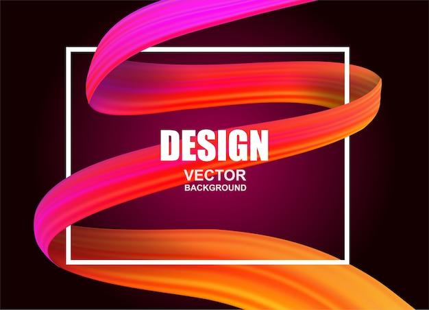 Kleurrijke stroom weefsel achtergrond Premium Vector