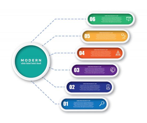Kleurrijke tijdlijn infographics Premium Vector
