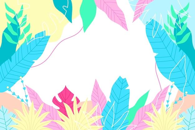 Kleurrijke tropische achtergrond met lege ruimte Gratis Vector