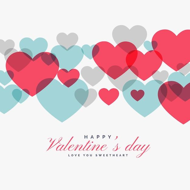 Kleurrijke valentijnsdag liefde harten backgorund Gratis Vector