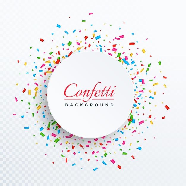 Kleurrijke vector confetti geïsoleerd op transparante achtergrond Gratis Vector