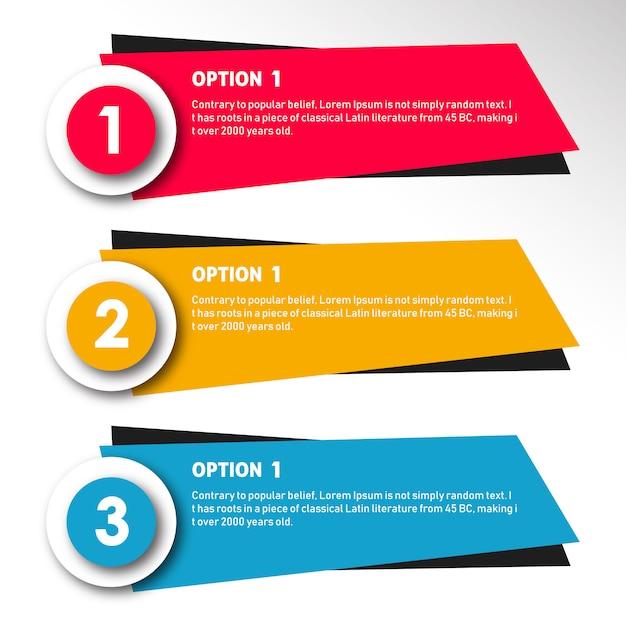 Kleurrijke vector infographic ontwerpen Gratis Vector